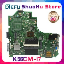цена на KEFU For ASUS K56CA K56CM S56C A56CM A56C S550CM K56CB S550CB I7 REV 2.0 laptop motherboard tested 100% work original mainboard