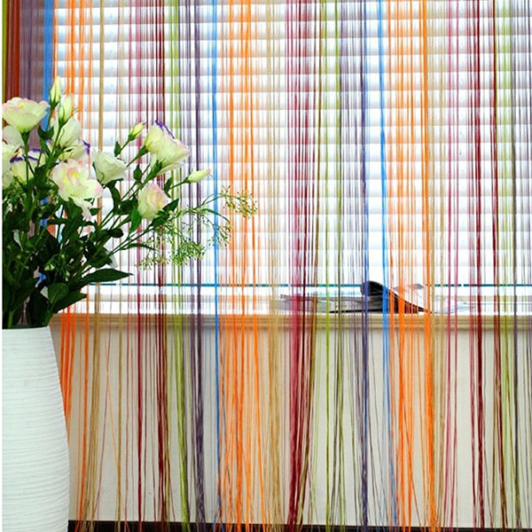 Romantic Line Partition Curtain 1mX2m Interior String Door Window Panel Nlinds Living Room Divider In Curtains From Home Garden On Aliexpress