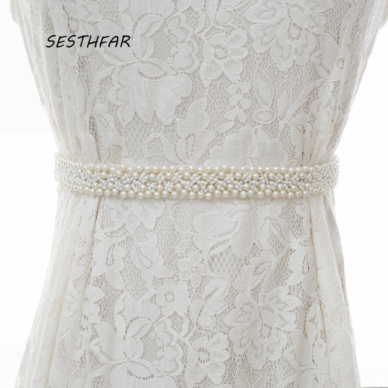 Pearls Wedding Belts Handmade Bridal Belts Fashionable Pearl Beaded Bridal Sashes Wedding Accessories J164