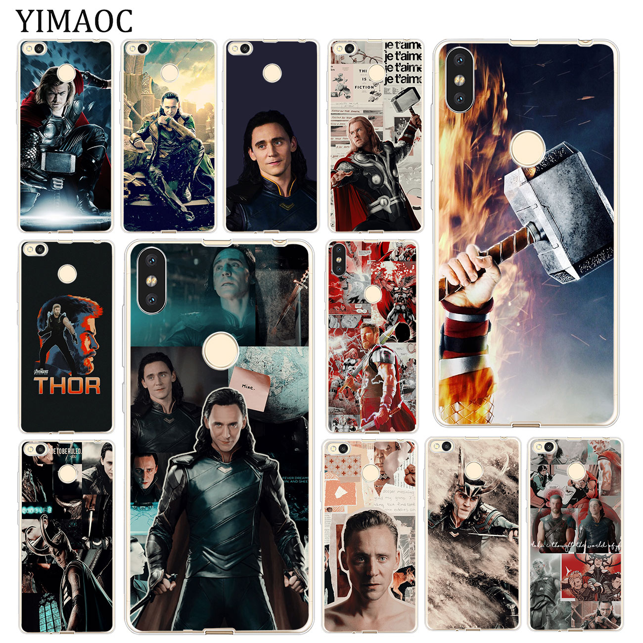 YIMAOC Thor loki <font><b>Marvel</b></font> Soft Silicone <font><b>Case</b></font> for <font><b>Xiaomi</b></font> MI <font><b>Redmi</b></font> 8A 7A 6A 5A 4X <font><b>Note</b></font> 8 7 6 Pro 5 Plus Cover image