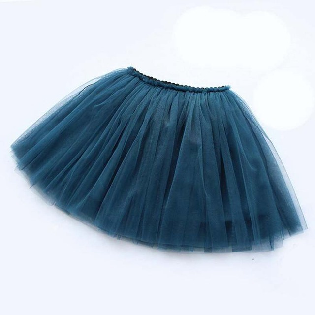 girls skirts princess lovely tutu skirts for 1-12Years kids spring summer clothes 21 color short girls lace skirt dance clothes 4