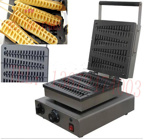 4 pcs/plate 110v and 220v Commercial Use Electric lolly waffle making machine hot dog waffle stick electric 110v 220v corn lolly waffle maker hot dog waffle stick 6 pcs a plate