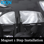 LOEN Car Side Sunshade Magnet 1 Step Installation Curtain Mesh Visor Shield Side Window Solar Protection Hide UV Sun Shade