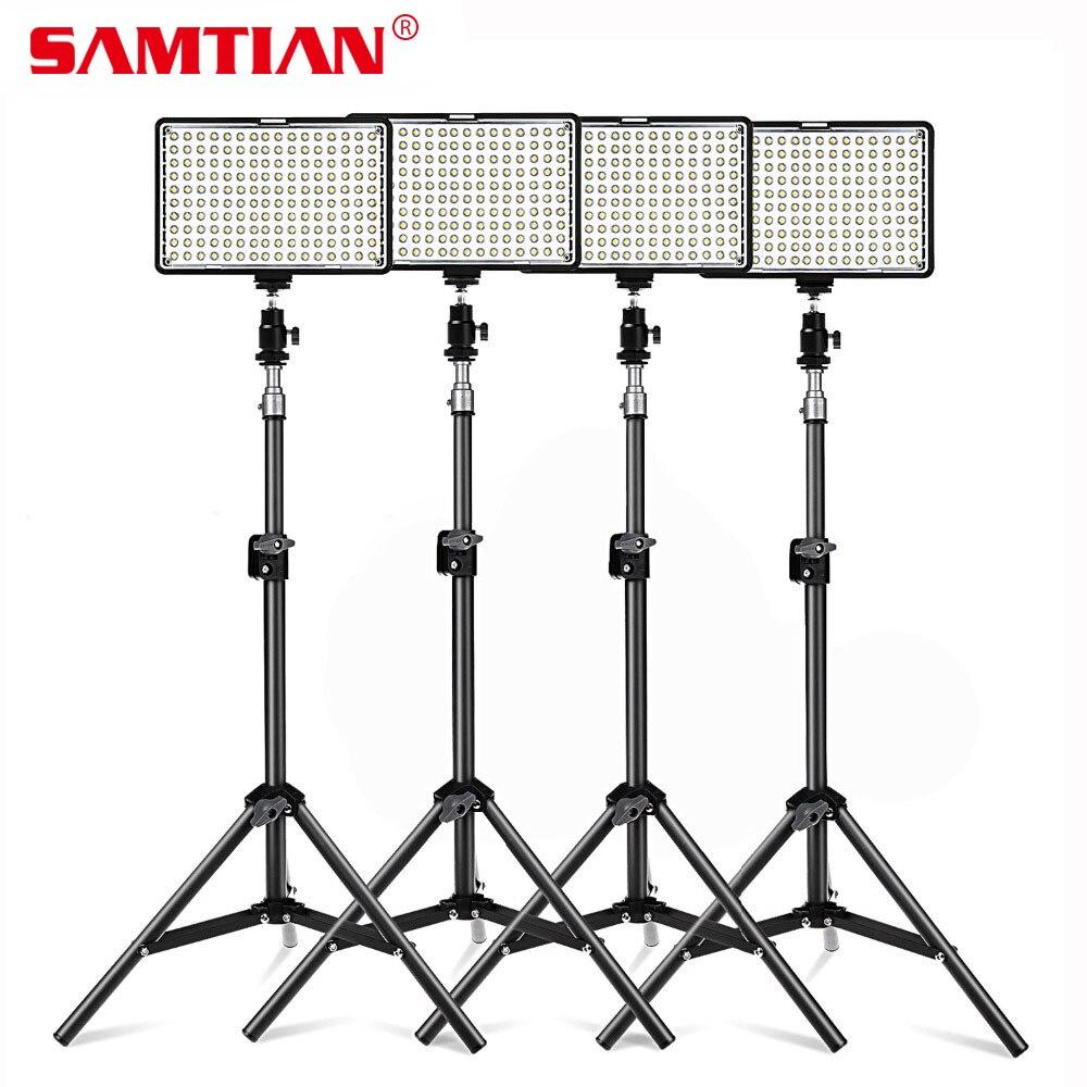 SAMTIAN 4Sets Photography Lighting Kit 160 LED Studio