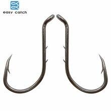 Easy Catch 100pcs 8299 Fishing Hooks Black Offset Barbed Shank Baitholder Bait Fishing Hook Size 1 2 3 4 1/0 2/0 3/0 4/0 5/0 6/0