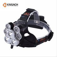 Head lamp LED T6+XPE Headlight Head Lights Headlamps Rechargeable High Power Outdoor Waterproof Fishing Cycling W627