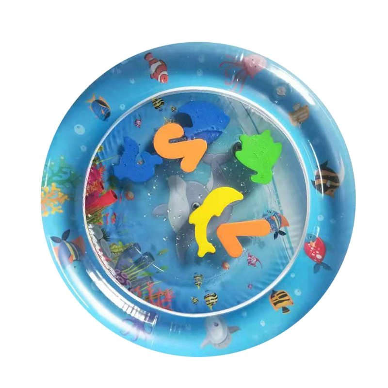 Image 3 - Inflatable Dual Use Baby Toys Kids Play Mat Inflatable Patted Pad Baby Tummy Water Mat Prostrate Water Cushion Pat Pad-in Play Mats from Toys & Hobbies