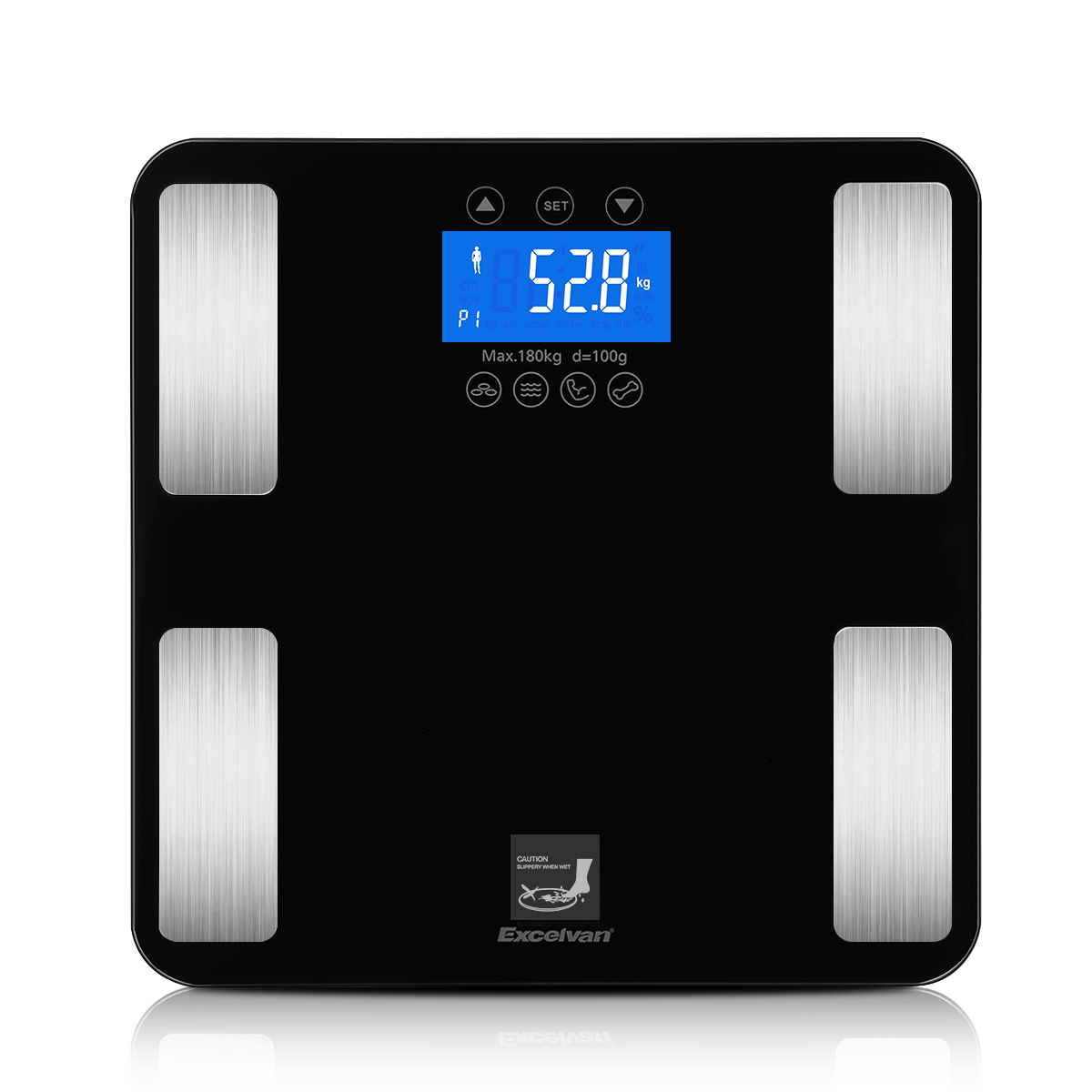 007da280ee6 Excelvan Smart Touch Weight Measure 400lb 0.1kg Digital Scale Track Body  Weight BMI Fat Water Calories Muscle Bone Mass Bathroom-in Bathroom Scales  from ...