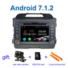 2 GB RAM Quad Core 1024*600 Reine Android 7.1 Auto DVD für Kia Sportage 2010-2015 mit Radio RDS Video GPS BT WiFi