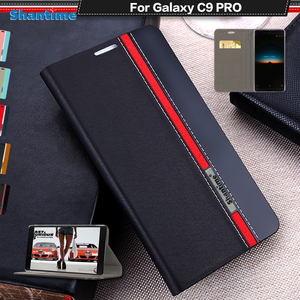 Book Case For Samsung Galaxy C9 Pro Flip Case Pu Leather Phone Bag Case For Samsung Galaxy C9 C9000 Soft Tpu Silicone Back Cover(China)