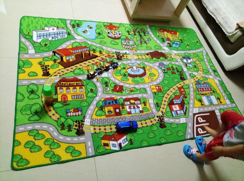 Garçons tapis pour la maison salon Center ville rue thème tapis Tapeta tapis Alfombra enfants chambre enfants tapis bébé ramper tapis