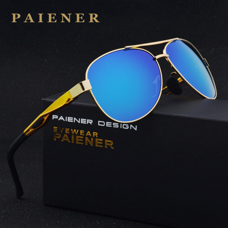 Aluminum Magnesium Fashion Polarized Lens Sunglasses Men / Women Driving Mirror Sun Glasses Points Male Oculos with accessories