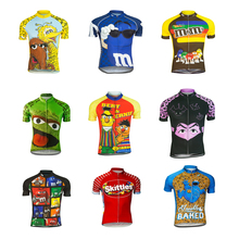 b627631f1 Cartoon funny Cycling jersey ropa ciclismo Men Short sleeve Cycling  clothing maillot outdoor bike wear jersey