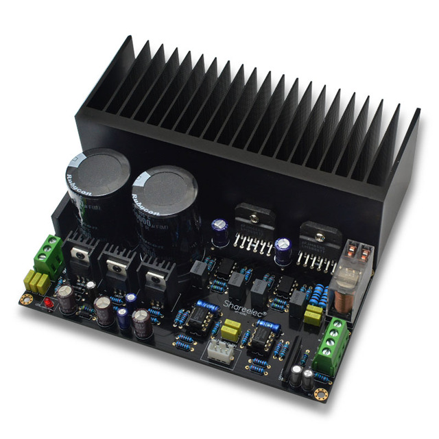 lm3886 stereo high power amplifier board kit op07 dc servo 5534 independent op amp with radiator. Black Bedroom Furniture Sets. Home Design Ideas