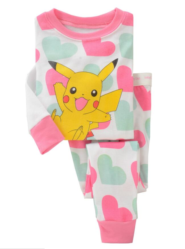 Kids Pajamas Girls Long Sleeve Pajamas Children Sleepwear Sets T shirt Pants 2 Pieces Cotton Colothing