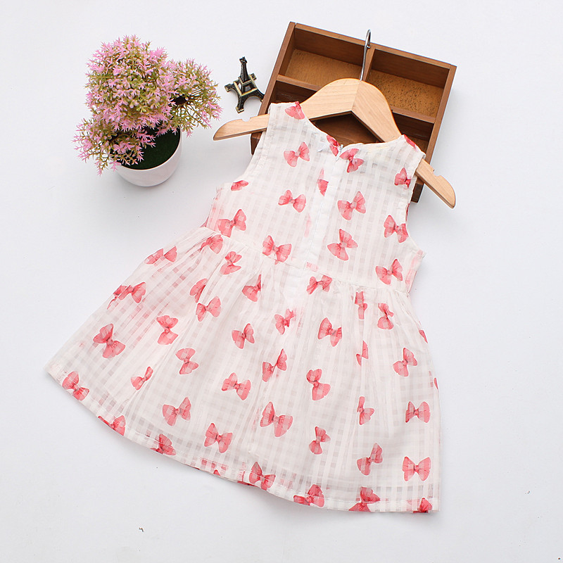 2016 Super Deal Summer Cotton Baby Dress Princess Dress Puff Sleeveless Cute Fashionable Baby Infant Dress 0-2 Years 6