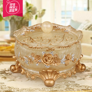 European character size crystal glass ashtray round bedroom living room room office resin ashtray