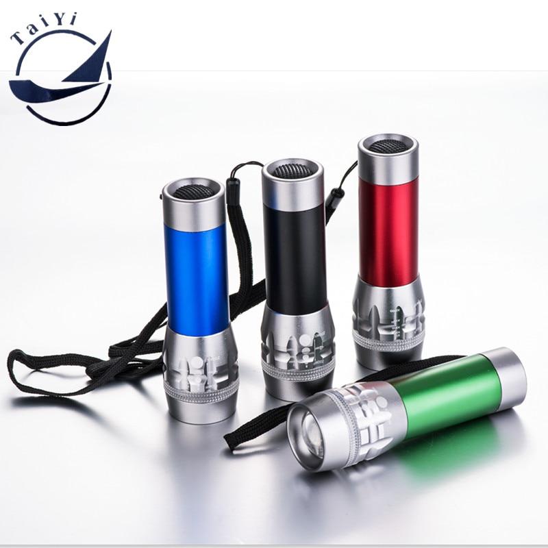 [TAIYISuper Mini LED taskulamp 600 lumenit 1W LED suumitav taskulamp Lampe 3Mode Torche Flash paljude värvide valgus tasuta