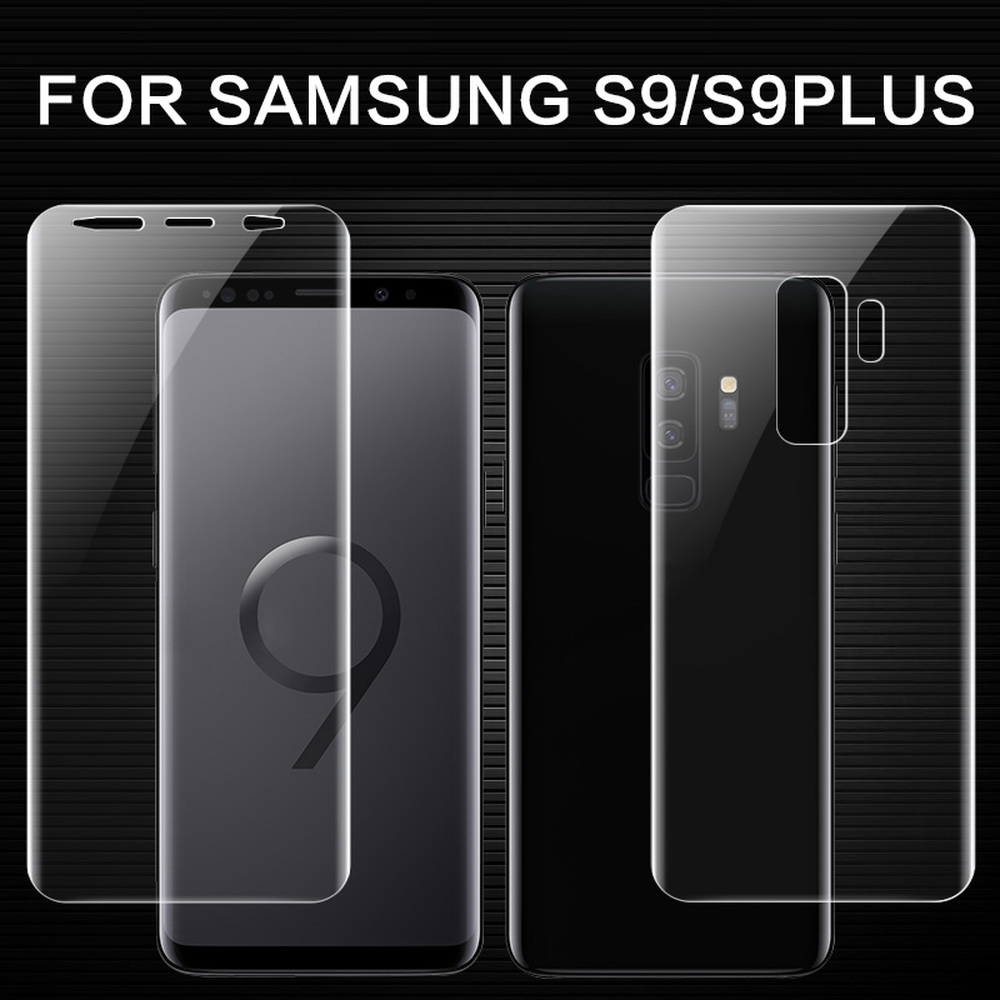 Front & Back/Set 3D Full Cover TPU <font><b>Screen</b></font> Protector Soft Film For <font><b>Samsung</b></font> Galaxy <font><b>S9</b></font> <font><b>Plus</b></font> <font><b>Screen</b></font> <font><b>Protective</b></font> Anti-Explosion Film image