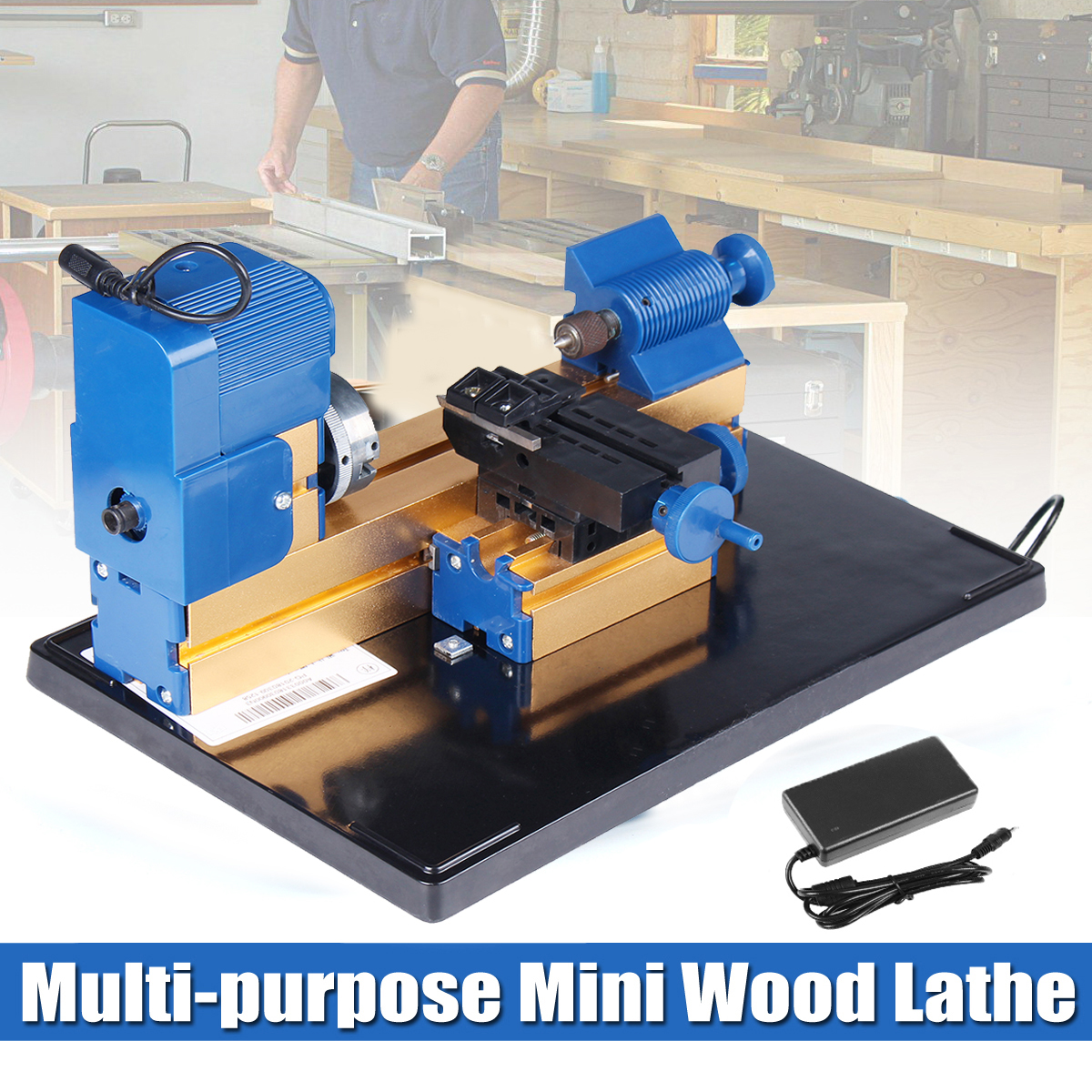KXA Wood Lathes Tools 24W DC 12V 2A Mini Electric Woodworking Lathe Woodworking Milling Machine Hobby DIY Woodworking Tools