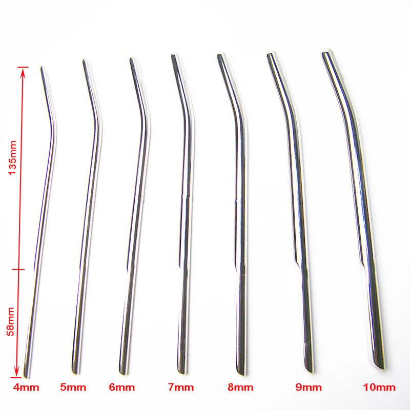 7pcs Different Size Female Urethra Male Urethra Dilator Metal Horse