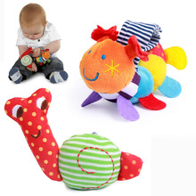 Купить с кэшбэком 2018 Caterpillar Snails Baby Wrist Watchs Baby Toys Infant Learning & Education Toy Baby Rattle Hand Rattles Finders Toys G0091