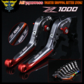 Laser Logo(Z1000) Red&Titanium CNC Motorcycle Brake Clutch Levers For kawasaki 2007 2008 2009 2010 2011 2012 2013 2014 2015 2016