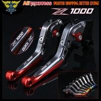 Laser Logo Z1000 Red Titanium CNC Motorcycle Brake Clutch Levers For Kawasaki 2007 2008 2009 2010