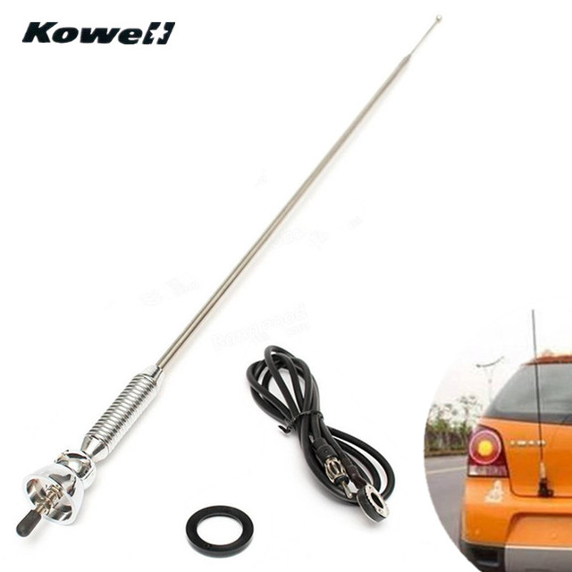 US $13 7 20% OFF|KOWELL Universal Extend Car Auto Roof Fender Radio Antenna  FM/AM Signal Booster Amplifier Aerials Whip Mast for Volkswagen VW-in