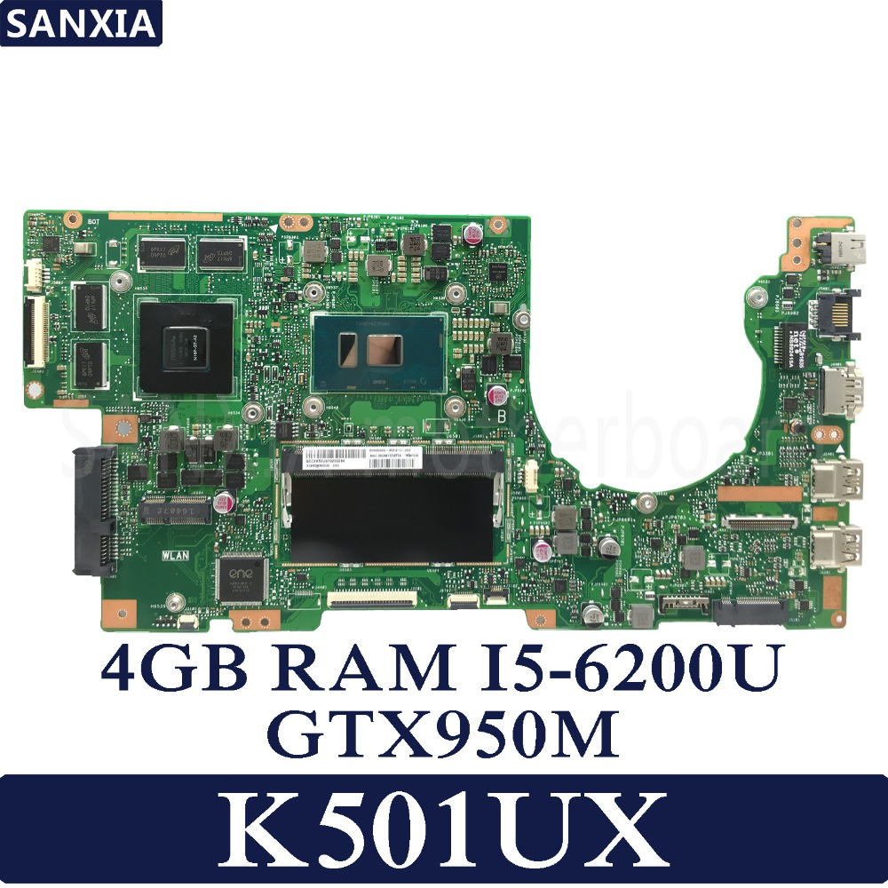 KEFU K501UX Laptop motherboard for ASUS K501UX K501UB K501U K501 Test original mainboard DDR3 4G RAM