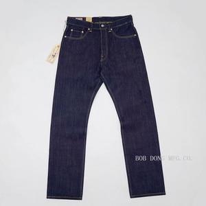 Image 2 - بنطلون جينز للرجال بوب دونغ 23 أونصة بلون أحمر من قماش الدنيم بقصة ضيقة
