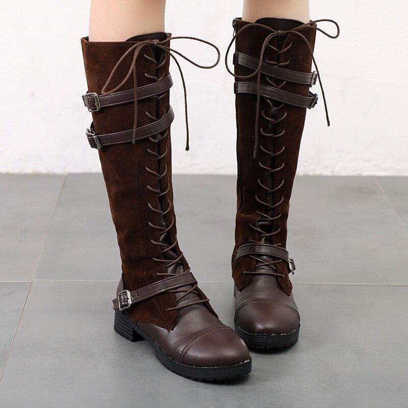 Women Boots 2018 Autumn Winter New Female Boots Buckle Side Zipper Boots Shoes Woman все цены