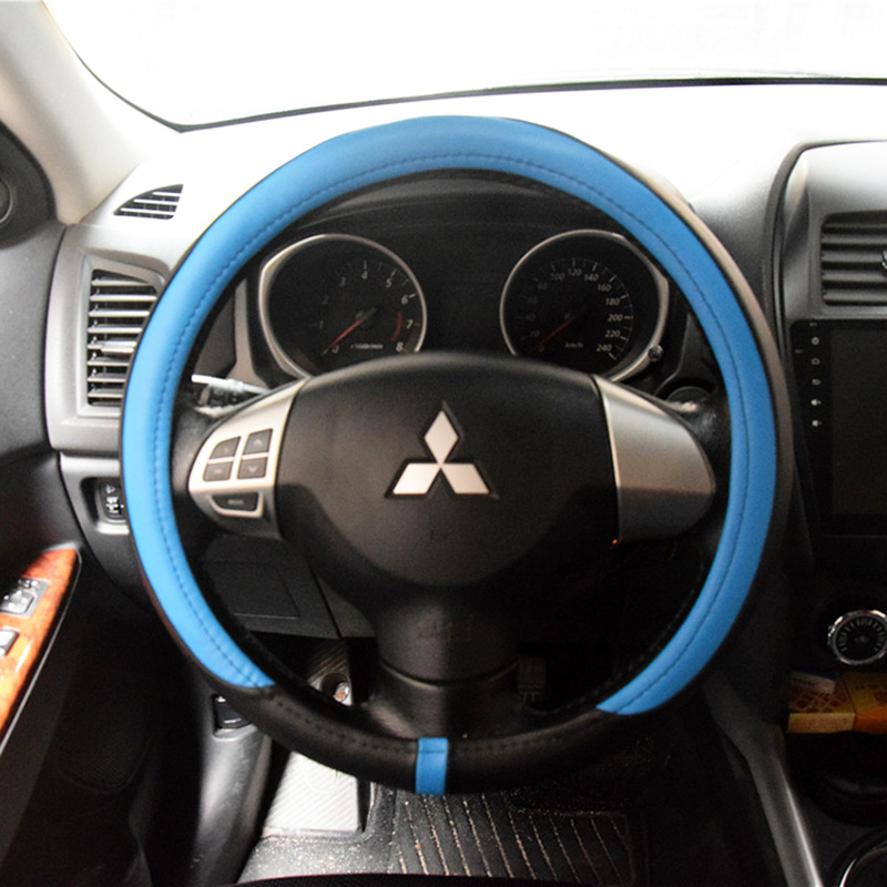 Sport Car Steering Wheel Covers For Men Pu Leather Steering Wheel Cases Protector Auto Interior