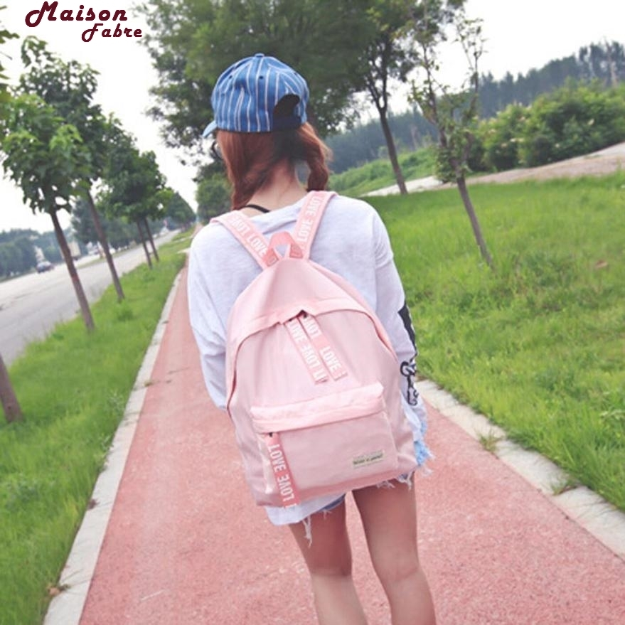 Maison Fabre Backpack  Girls Boys Letter School Bag Travel Backpack Satchel Women Shoulder Rucksack Backpack Maternity 2017d13 #3