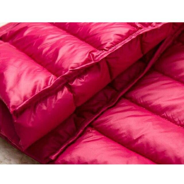 SEDUTMO Winter Long Women Down Jackets Ultra Light Duck Down Coat Thin Slim Black Puffer Jacket ED341 5
