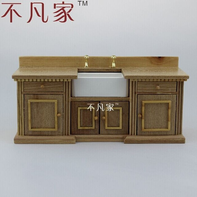 Mayor casa de muñecas escala 1:12 fina miniatura muebles fregadero ...
