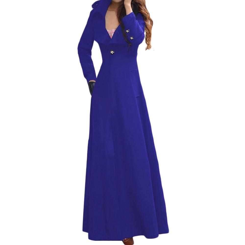 Long Élégant Tranchée Laine Mélange Slim Automne Et vert bleu De Noir Veste 2018 En Hiver Femmes rouge Manteau PHwqFyO5