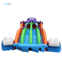 2017 Popular inflatable water slide and pool for kids and adults