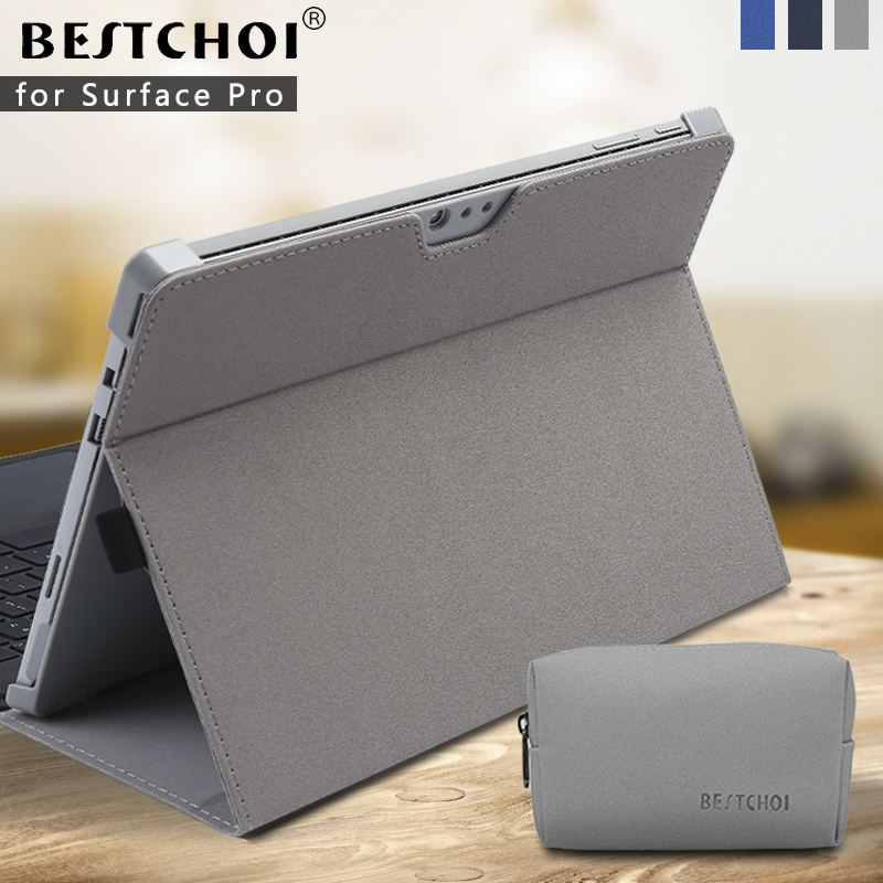 New Business Solid Case For Surface Pro 4 Pro 5 2017 Tablet Sleeve For Microsoft Surface Pro 4 5 Built-in Stand Case Women Men