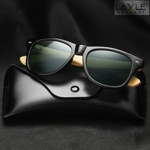 2019 New Polarized Bamboo Sunglasses Photochromic Men Wooden Sun glasses Women Brand Original Glasses Oculos de sol masculino(China)