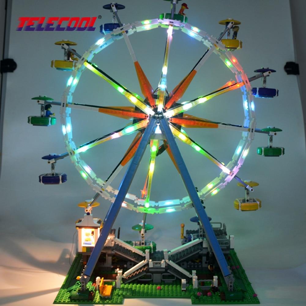 LED Light Block kit (Only light set) For City Street Ferris Wheel Building Blocks Compatible with 10247 Best Christmas Gift