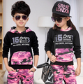 Spring & Autumn Set Childrens Female Tracksuits Child Clothing Hood Set Boys Casual Sports Sets Kids Costumes Kid Boy Tracksuits