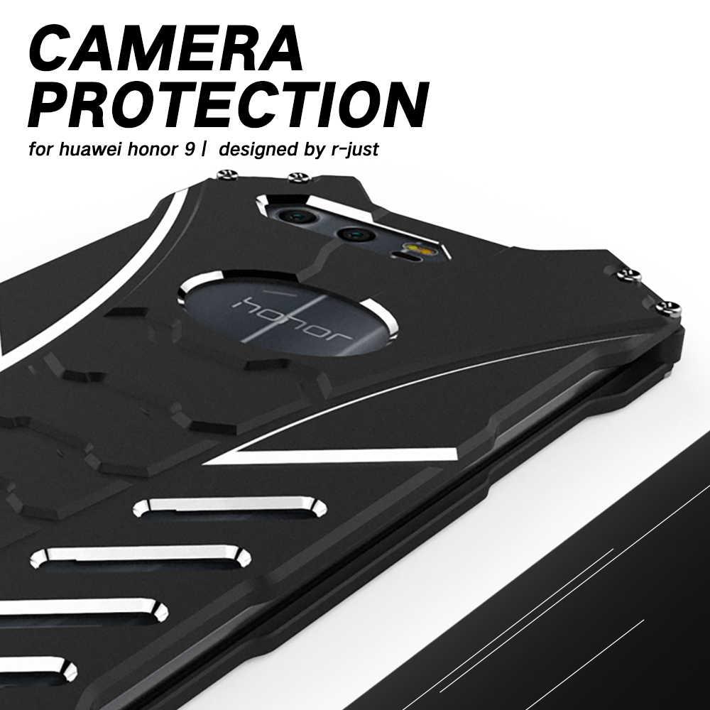 R-JUST Алюминий сплав металла чехол для телефона на бампер для huawei Honor хонор 9 10 Honor9 Honor10 4/6 64/128 GB Защитная крышка