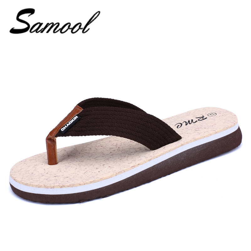 Luxury Brand Mens Flip Flops Slippers Summer Fashion Beach Sandals Shoes For Men Casual shoes men zapatos hombre cheap 1D1