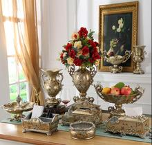 European multi-functional tissue box large restaurant carton American pastoral home decor set luxury ornaments цены онлайн