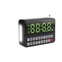 KK60 с большим светодиодный дисплеем TF \ Micro SD USB динамик MP3-плеер FM радио часы будильник светодиодный фонарик