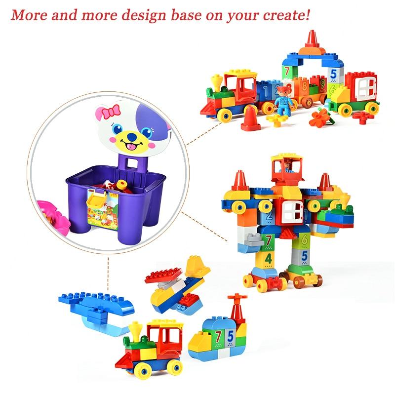 75/66 / 65PCS grands blocs de briques de mon premier numéro - Concepteurs et jouets de construction - Photo 4