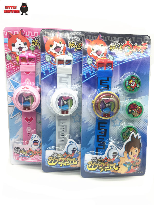 2016 New Anime Yokai Watch DX Yo Kai Wrist Watch Kids Toy With 3 Medals Cosplay