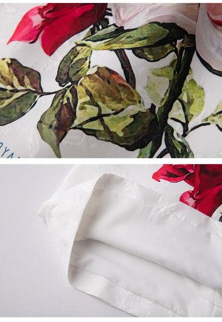 Vestidos corto verano apliques y estampado floral 5