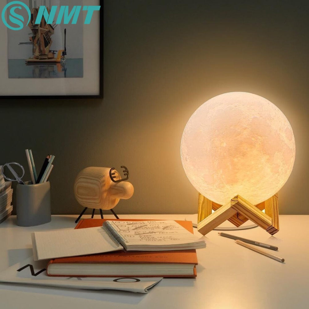 Moon Light For Bedroom: Dropship 3D Print Moon Lamp Rechargeable LED Night Light